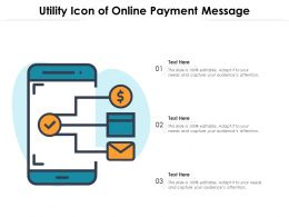 Utility Icon Of Online Payment Message