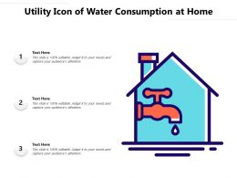 Utility Icon Of Water Consumption At Home
