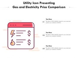 Utility Icon Presenting Gas And Electricity Price Comparison