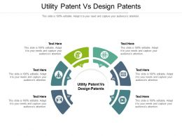 Utility Patent Vs Design Patents Ppt Powerpoint Presentation Styles File Formats Cpb