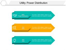 Utility Power Distribution Ppt Powerpoint Presentation Slides Structure Cpb