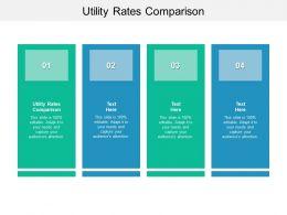 Utility Rates Comparison Ppt Powerpoint Presentation Portfolio Gridlines Cpb