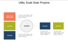 Utility Scale Solar Projects Ppt Powerpoint Presentation Layouts Outline Cpb