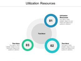 Utilization Resources Ppt Powerpoint Presentation Pictures Background Image Cpb