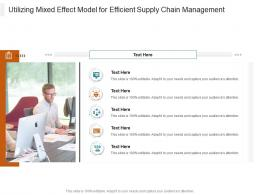 Utilizing Mixed Effect Model For Efficient Supply Chain Management Infographic Template