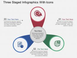 uu Three Staged Infographics With Icons Flat Powerpoint Design