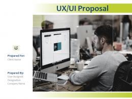 UX UI Proposal Powerpoint Presentation Slides