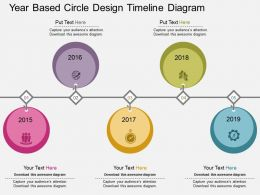 ux Year Based Circle Design Timeline Diagram Flat Powerpoint Design