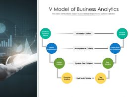 V Model Of Business Analytics