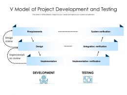 V Model Of Project Development And Testing
