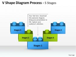V Shape Diagram Process 5 Stages