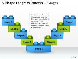 V Shape Diagram Process 9 Stages 5