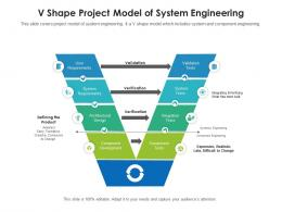 V Shape Project Model Of System Engineering