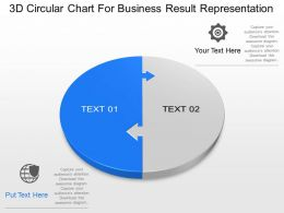 Va 3d Circular Chart For Business Result Representation Powerpoint Template