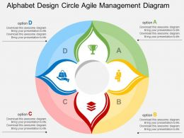 va Alphabet Design Circle Agile Management Diagram Flat Powerpoint Design