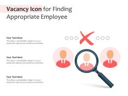 Vacancy Icon For Finding Appropriate Employee