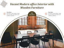 Vacant Modern Office Interior With Wooden Furniture