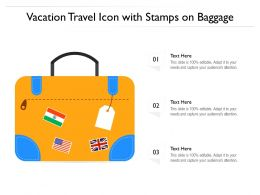 Vacation Travel Icon With Stamps On Baggage