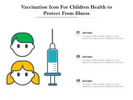 Vaccination Icon For Children Health To Protect From Illness