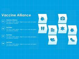 Vaccine Alliance Ppt Powerpoint Presentation Layouts Display