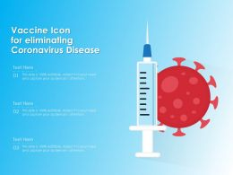 Vaccine Icon For Eliminating Coronavirus Disease