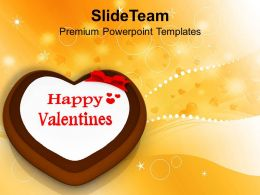 Valentine Cake Symbol Celebration PowerPoint Templates PPT Themes And Graphics 0213