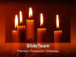 Valentine Candles Festival PowerPoint Templates PPT Themes And Graphics 0213