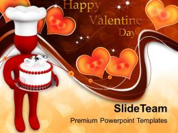 Valentines Cake Love PowerPoint Templates PPT Themes And Graphics 0213