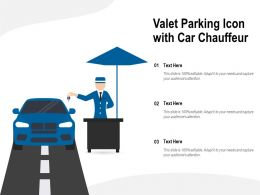 Valet Parking Icon With Car Chauffeur