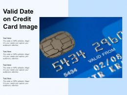 Valid Date On Credit Card Image
