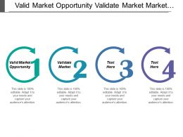 Valid Market Opportunity Validate Market Market Attractiveness Customer Intimacy