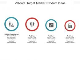 Validate Target Market Product Ideas Ppt Powerpoint Presentation File Show Cpb