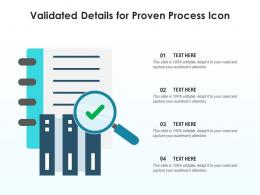 Validated Details For Proven Process Icon