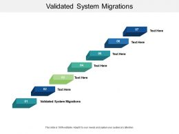 Validated System Migrations Ppt Powerpoint Presentation Icon Background Cpb