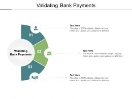 Validating Bank Payments Ppt Powerpoint Presentation File Example Introduction Cpb