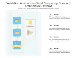 Validation Abstraction Cloud Computing Standard Architecture Patterns Ppt Powerpoint Slide