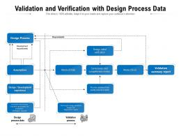 Validation And Verification With Design Process Data