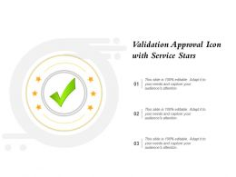 Validation Approval Icon With Service Stars