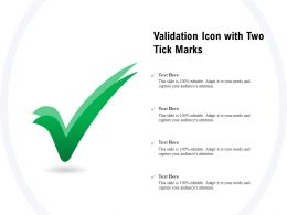 Validation Icon With Two Tick Marks