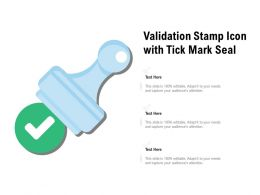 Validation Stamp Icon With Tick Mark Seal