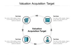 Valuation Acquisition Target Powerpoint Presentation Portfolio Example Introduction Cpb