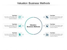 Valuation Business Methods Ppt Powerpoint Presentation Ideas Designs Cpb