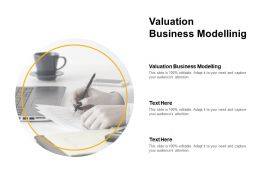 Valuation Business Modelling Ppt Powerpoint Presentation Pictures Graphics Cpb