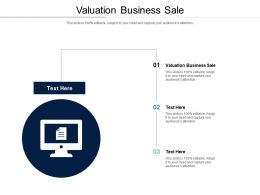 Valuation Business Sale Ppt Powerpoint Presentation Layouts Ideas Cpb