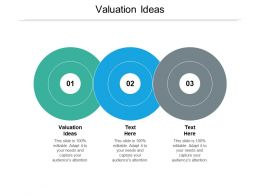 Valuation Ideas Ppt Powerpoint Presentation Professional Topics Cpb