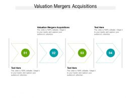 Valuation Mergers Acquisitions Ppt Powerpoint Presentation Gallery Design Templates Cpb