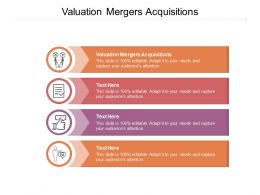 Valuation Mergers Acquisitions Ppt Powerpoint Presentation Show Slideshow Cpb