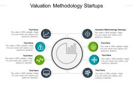 Valuation Methodology Startups Ppt Powerpoint Presentation Styles Icons Cpb