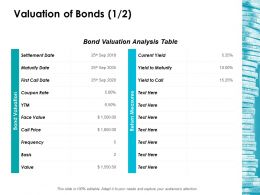 Valuation Of Bonds 1 2 Ppt Layouts Show