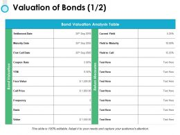 Valuation Of Bonds Frequency Ppt Powerpoint Presentation Ideas Vector